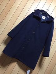 新品タグ付きPUNYUS★中綿・フード付きネイビーコート