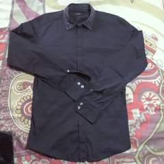 DIESEL/ディーゼルブラック 襟デニムシャツ
