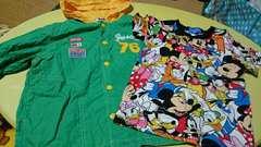 ディズニーTシャツ&パーカー2枚セット☆100�a