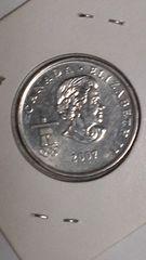 カナダコイン/25セント/2010VANCOUVER/ホッケー