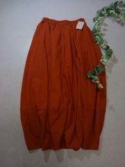 *SM 2*  ギャザーバルーンスカート  F オレンジ新品