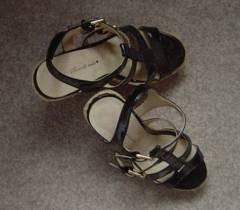 靴 ハイヒール サンダル Mサイズ 23cm ブラック