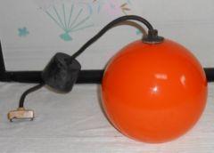 日本製昭和前半頃日立製作所製ガラスボール型天井照明