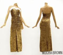 新品ベロアベアロングドレス モカブラウン