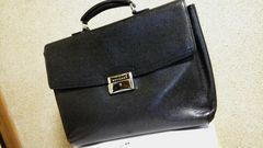 正規美 ブルガリ BVLGARIロゴプレートビジネスバッグ黒 ブリーフ 書類鞄 鍵有