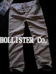 【Hollister】Vintage Washed レギュラーストレート チノパンツ 34/L.Khaki
