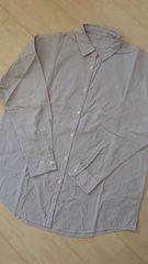 美品*ピンストライプ長袖カシュクールシャツ Mサイズ