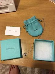 ティファニーTIFFANYラビングハート箱 保存袋つきネックレス美品