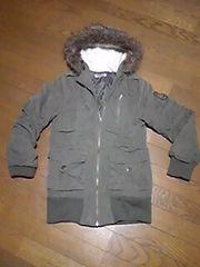 コート/ジャンパー/ファー付き帽子/150/緑/上着