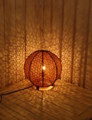 送料無料 まんまるbariランプ バリ島 アジアン雑貨 間接照明