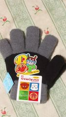 新品アンパンマン手袋定価\1296ばいきんまんグレーブラック