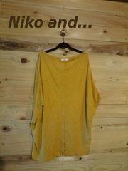 《Niko and…》即決!大きいサイズの方もOK♪秋色変形カーデ
