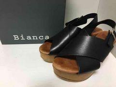 SHIPS購入Khaju/Bianca/スペイン製/クロスサンダル/ブラック美品
