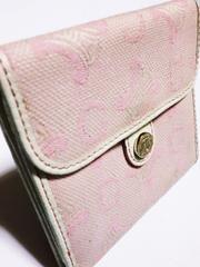 セリーヌ/CELINE ロゴマーク総柄革製二つ折り財布