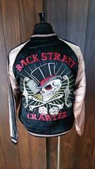 セール☆back street crawler/スカジャン/M/bsj-23/花旅楽団/サトリ/東洋
