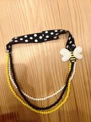 ジンボリー☆子ども用ハチさん三連ネックレス