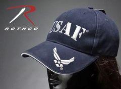 米空軍オフィシャル品・ROTHCO社製「USAF」キャップ・紺・新品