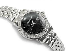 SEIKOセイコーレディース腕時計ダイヤモンド金ベゼル逆輸入