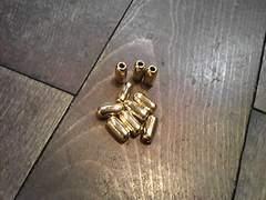 赤ビーズ用に金ゴールド☆パイプビーズ☆Lサイズ真鍮無垢1個