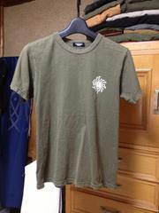 日本製 トルネードマート プリントロゴ 半袖Tシャツ Sサイズ細身 カーキ 緑色 ユーズド