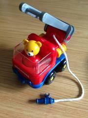 ミキハウス クマのはしご車 消防車 おもちゃ 美品