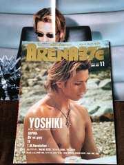 2000 YOSHIKI 表紙 ARENA ポスター付 XJAPAN エックスジャパン