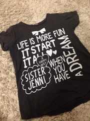 JENNI・デカロゴ半袖Tシャツ・160