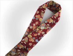振袖成人式&袴・着物に 和柄半衿半襟赤色地菊楓流水