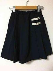 ファミリア 紺色ボックスプリーツスカート size130