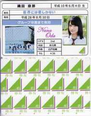 織田奈那 世界には愛しかない 免許証カード 欅坂46