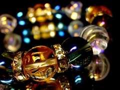 守り本尊十二支梵字水晶ブルーオーラ§レインボートルネード水晶12ミリ数珠