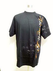 st9XL ロックイーグルROCK EAGLE フルプリント スカル Tシャツ