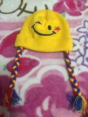 ニコちゃんニット帽子