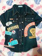 ANGEL BLUE 半袖シャツ サイズM150センチ