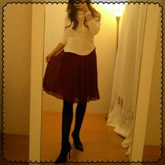 ロペピクニック☆シフォンプリーツフレア軽やかスカート 38