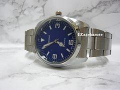 新品 ★腕時計 シルバー ブルー /エクスプローラ好きに