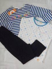 #新品#PEARSON'S 長袖半袖パンツパジャマ3点セット120\2786   500スタ