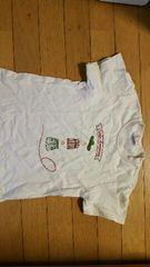 クリーム色の半袖Tシャツ【120�a】