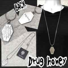【新品/Drug honey/B品】棺桶形ロゴマークロングネックレス