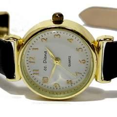 良品【980円〜】CC.DIANA 日本製ムーブメント 腕時計