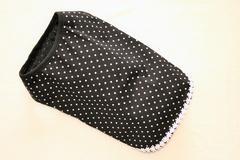 水玉ノースリーブTシャツ胴45cm(クロ)