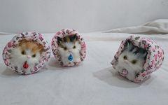 送料無料】ゴロゴロにゃんこ ネコの置物 3匹セット
