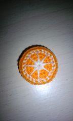 ハンドメイドあみぐるみマグネット(オレンジ)