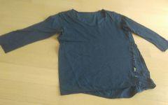 JEANASIS 黒 5分袖 Lサイズ