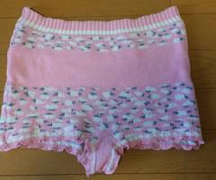 毛糸のパンツ ピンク レディースM〜L