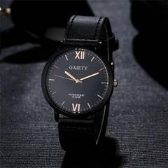 腕時計 ギリシャ文字 メンズ クォーツ腕時計 高品質 ブラック