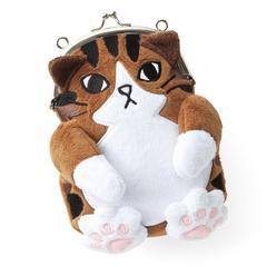 フェリシモ もふもふにゃん☆    肉球 猫がまぐち スマホ ポーチ ¥2370