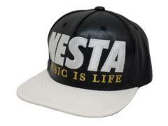 新品正規ネスタPUベーシック平つばキャップCap帽子ブラック