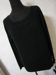 Lサイズ黒長袖カットソー★新品未使用♪ストレッチ♪