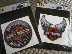 ●送料無料!HARLEY-DAVIDSON GENUINE MOTOR OILステッカーSET